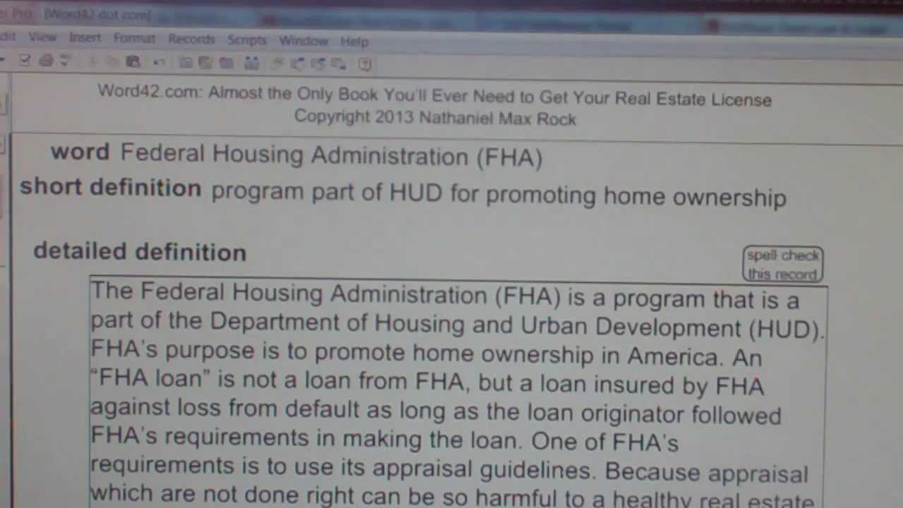 Federal Housing Administration (FHA) CA Real Estate License Exam Top ...