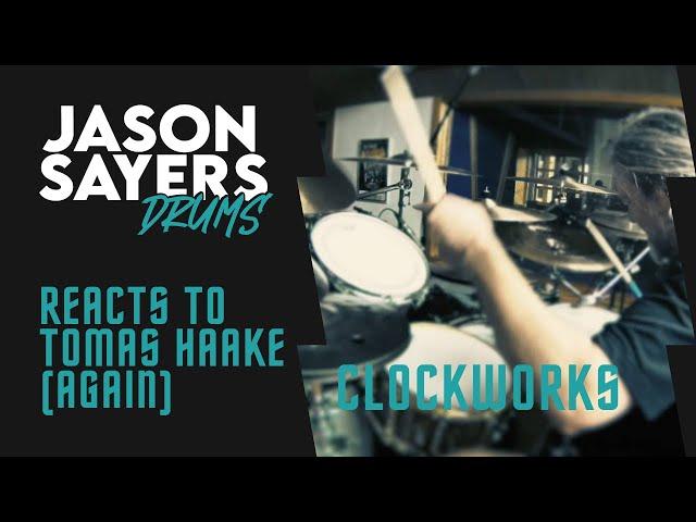 Drummer Reacts to - Tomas Haake of Meshuggah - Clockworks (Drum Playthrough)