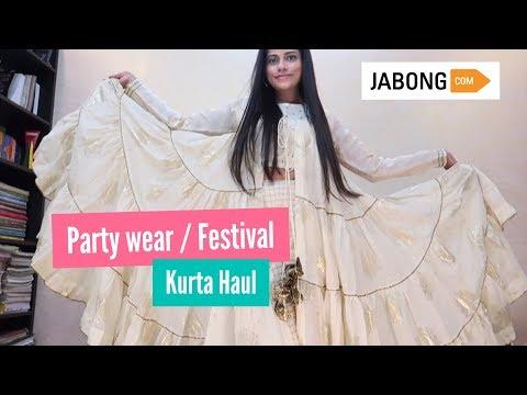 JABONG FESTIVAL / PARTY WEAR KURTA HAUL | Sana K