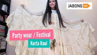 JABONG FESTIVAL / PARTY WEAR KURTA HAUL | Sana K