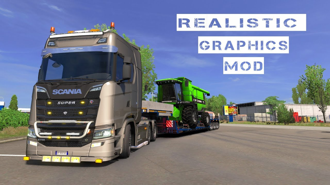 ETS 2-1 33 [Official] Realistic Graphics Mod v 2 4