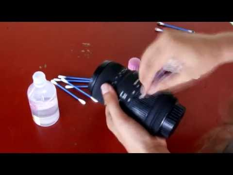 How to clean dslr lens rubber easily