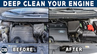 How To DEEP Clean Your Engine Bay! | Compete Engine Bay Detailing Tutorial!