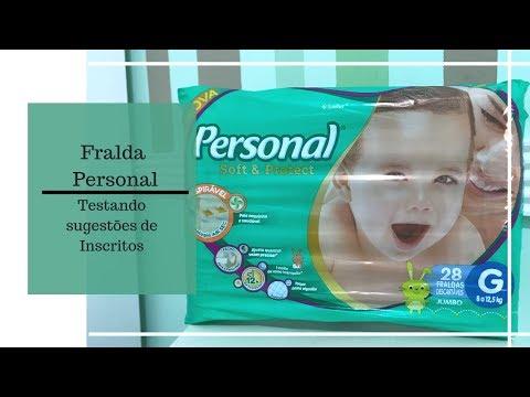 FRALDA PERSONAL SOFT & PROTECT - TESTANDO SUGESTÕES DE INSCRITOS