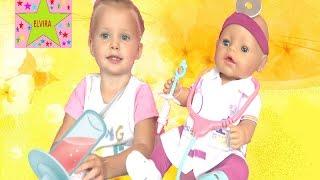 Беби Бон Доктор Игры в доктора Игры для девочек Кукла Катя Беби борн превратилась в доктора