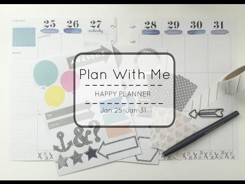 Plan With Me l Happy Planner l Jan 25- Jan 31