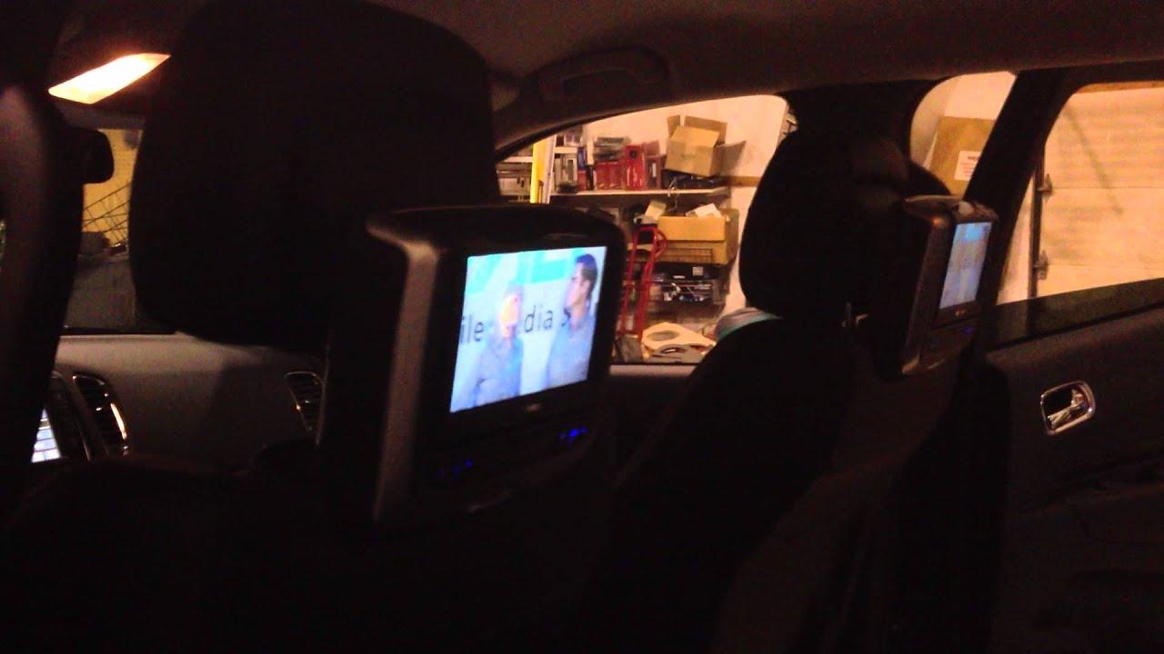 2013 Dodge Durango Audiovox DVD/Monitor Active Headrests. - YouTube