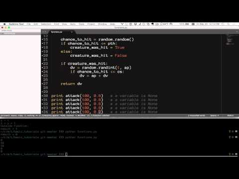 Basic Python Tutorial Series: 05 - Functions (Procedural)