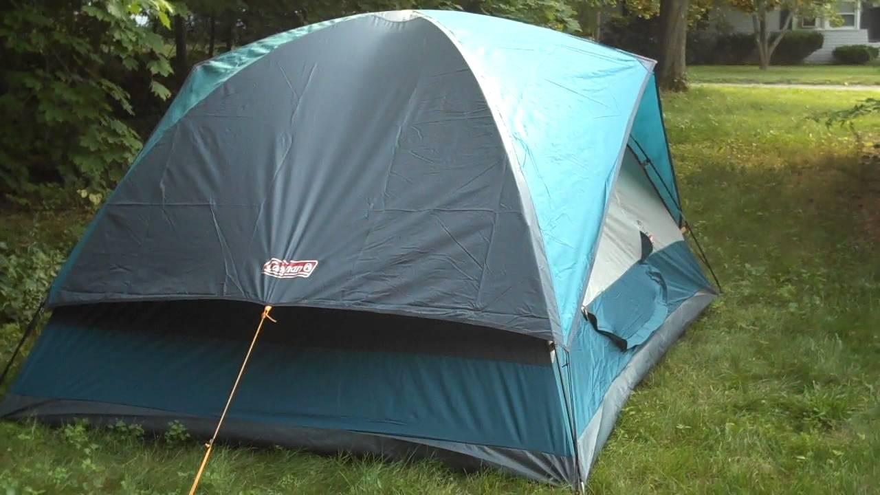 Coleman Sundome 7 x 9 Tent & Coleman Sundome 7 x 9 Tent - YouTube