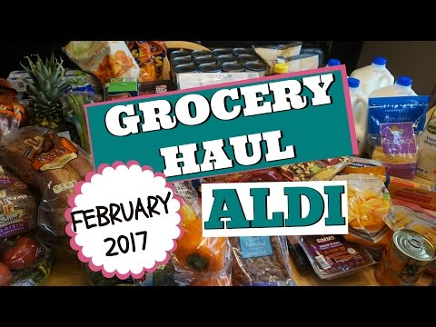 🍊 HUGE FAMILY GROCERY HAUL:  ALDI FEBRUARY 2017