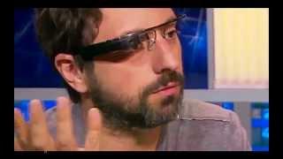 Google CEO Sergey Brin Shows & Demos Google Glass on TV