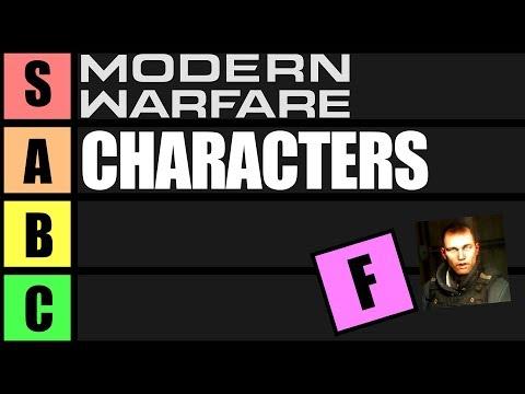 Call Of Duty Modern Warfare Trilogy Characters Tier List (MW 1-3)