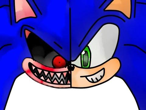 Pintando A Sonic Y Sonic Exe