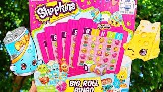 SHOPKINS BINGO GAME Summer Fun Shopkins Big Roll Bingo Game with Rare Shopkins