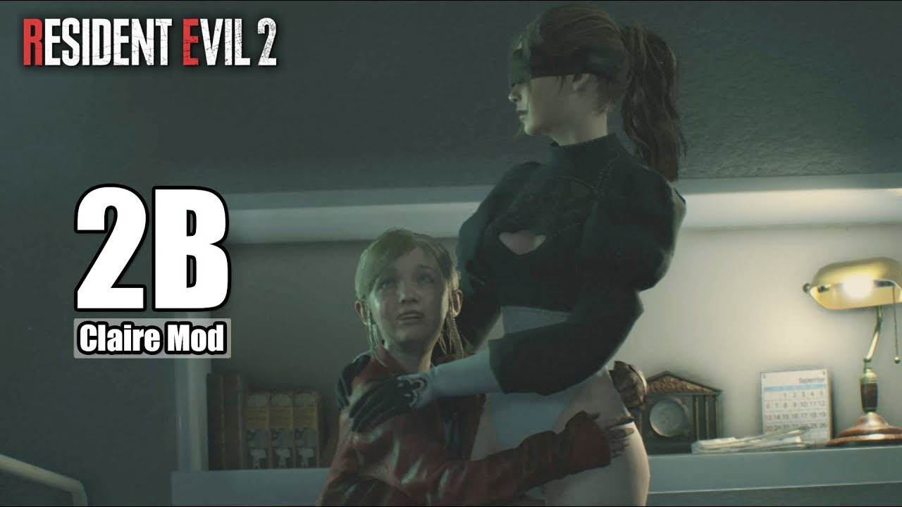 2B Nier Automata Claire Mod - Resident Evil 2 Remake [Steam Full HD][1080p  60fps]