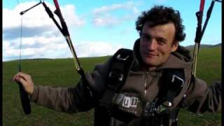 Paragliding kiting with Acro World Champion Raul Rodriguez