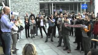 Concentració sindicats policials davant del Consell General