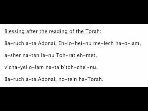 Worship Services: Blessings for Reading the Torah ...