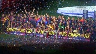 Победу «Барселоны» в Лиге чемпионов празднуют в Испании (новости)
