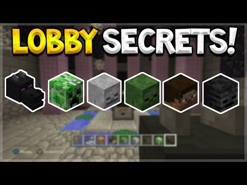 Minecraft Console Edition GLIDE LOBBY SECRETS! How To Find ALL Mob Head Locations (Console Edition)