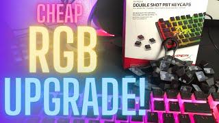 Cheap RGB Upgrade! HyperX Doubleshot PBT Keycaps