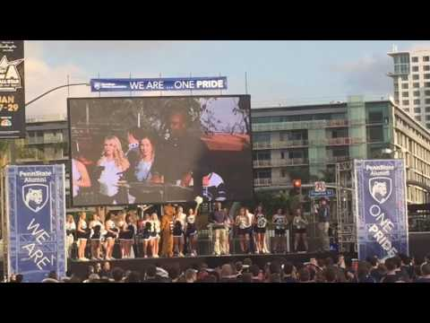 Penn State great Ki-Jana Carter speaks at Rose Bowl pep rally