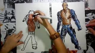 How to draw Jax from Mortal Kombat
