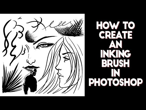 How to create an inking brush in Photoshop - YouTube