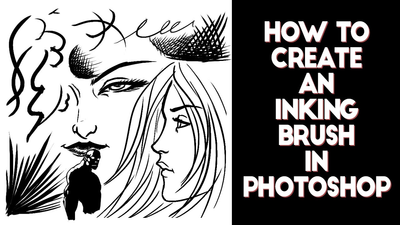 How to create an inking brush in Photoshop