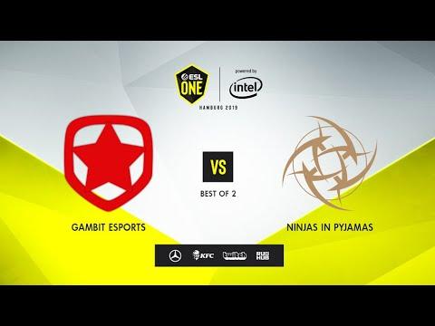 Gambit Esports Vs Ninjas In Pyjamas, ESL One Hamburg 2019, Bo2, Game 2 [4ce & Lex]