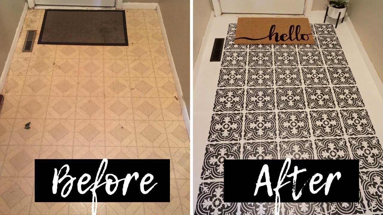 How to Stencil Linoleum Floors | Deep