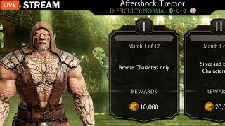 Mortal Kombat Mobile Live Stream. Aftershock Challenge Grind and Pack Opening.