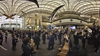 USAF Band Holiday Flash Mob 360!