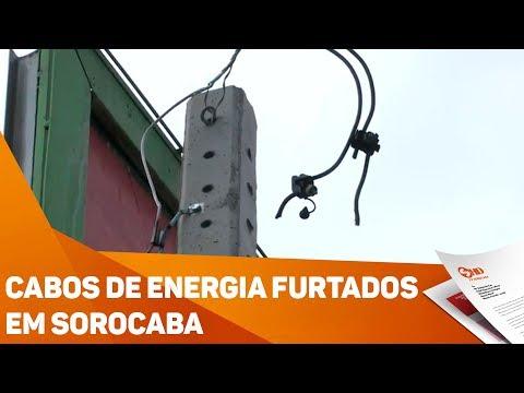 Cabos de energia furtados em Sorocaba - TV SOROCABA/SBT