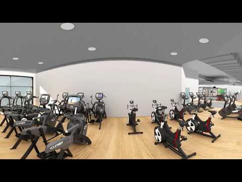 3D Gym VR 360 - Nuffield Health Fitness & Wellbeing Gym - Derby - Life Fitness
