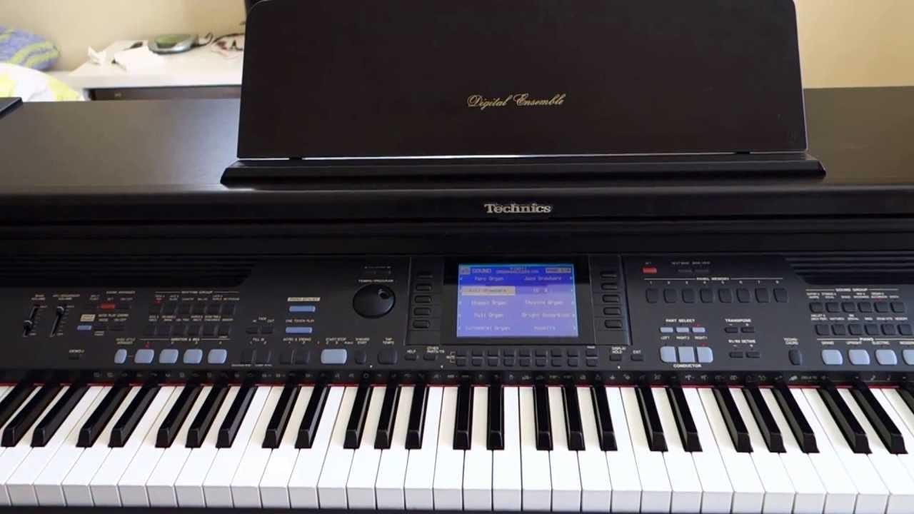 technics sx pr602 digitalt piano demo youtube. Black Bedroom Furniture Sets. Home Design Ideas
