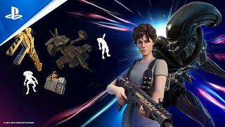 Fortnite - Ripley and Xenomorph Arrive on the Island | PS5, PS4