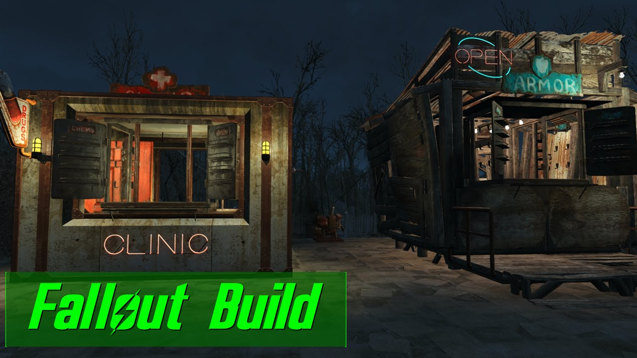 Wasteland shop ideas designs fallout 4 build youtube for Best house design fallout 4
