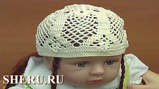 Вязаная шапочка для ребенка Мастер-класс 79