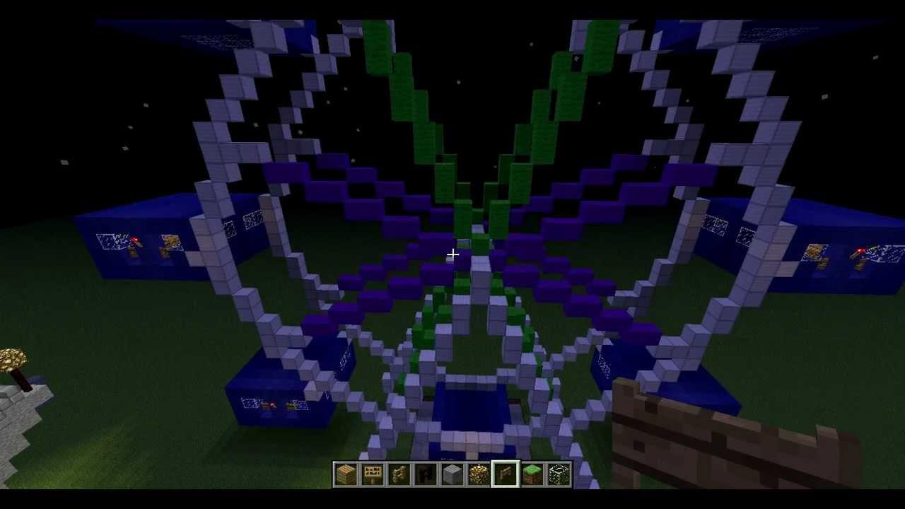 Minecraft Amusement Park Update #1 - Ferris Wheel - YouTube  Minecraft Amuse...