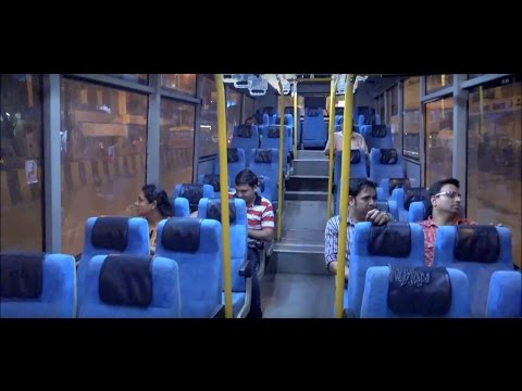 Air Conditioned B.E.S.T. Bus - Inside & Outside View !!!