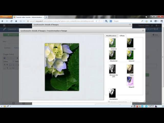 Joomla 3 - Ajouter et gérer ses images avec JCE