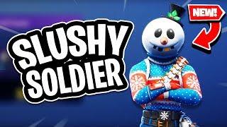 *NEW* Slushy Soldier Skin Fortnite Snow Man skin Icicle Pickaxe Fortnite new item shop