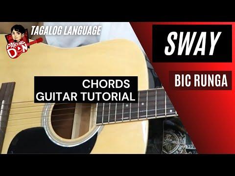 Guitar tutorial: Sway Chords (Bic Runga) Easy for beginners ...