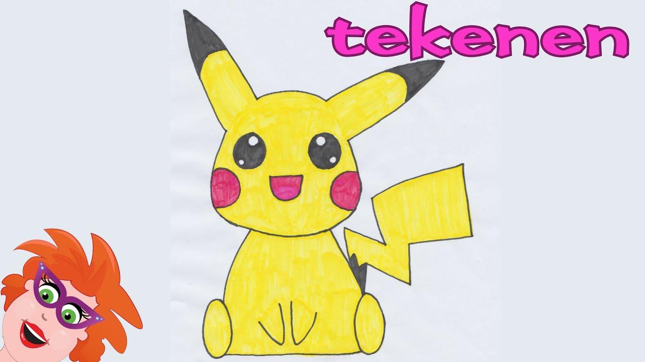 pikachu tekenen nederlands hoe teken je pikachu