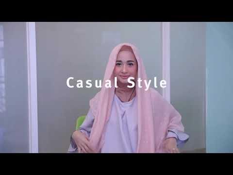 Tutorial Hijab Segi Empat Simple Ala LAUDYA CHINTYA BELLA.