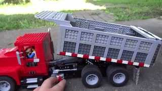 LEGO Power Functions Dump Truck and Conveyor Belt