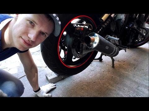 Как снять заднее колесо на мотоцикле