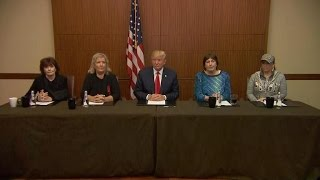 Donald Trump appears with women who have accused Bill Clinton of sexual advances