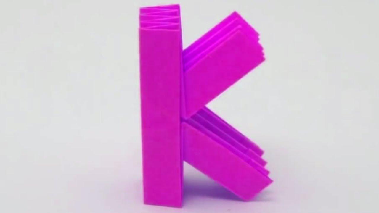 Origami Letter K By Ashvini
